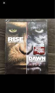Blu Ray - Rise & Dawn of the Planet of the Apes (2 movies