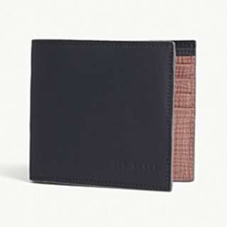 TED BAKER Rubber-look leather wallet