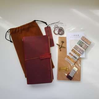 🚚 Leather Traveler's Notebook TN Full Set Journal Starter Pack