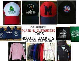 Caps and hoodie jackets