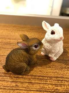 仿真兔子襬飾、裝飾品