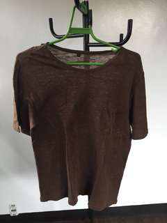 Muji brown shirt linen