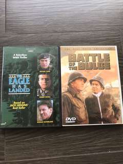DVD - WWII 🎥 The Eagle has Landed & Battle of the Bulge