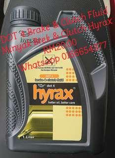 DOT4 Hyrax Brake & Clutch Fluid 1 Liter