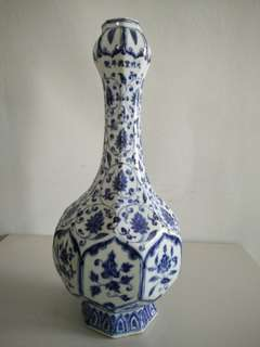 Garlic Porcelain Vase Dynasty ming