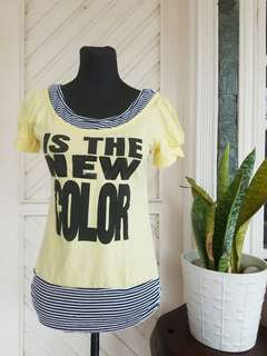 Yellow with Stripes Top