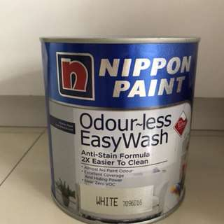 Nippon Ordourless Easywash 1l Paint