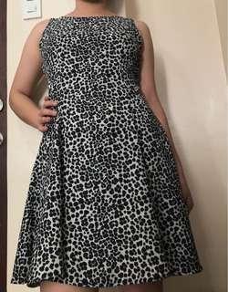 H&M animal print ladies dress,fits to medium to large