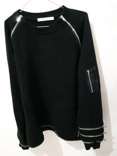 Givenchy Black Sweatshirt Full Zip