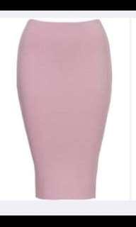 Kookai Pink Midi Skirt Bodycon