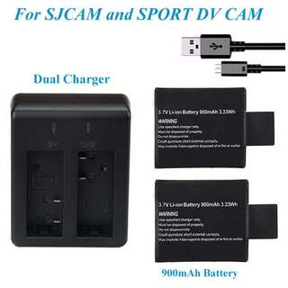 全新山狗 運動攝影機 ACTION CAM 代用電池買3粒特價送充電器 3.7V LI-ION REPLACEMENT BATTERY 900mAh FOR SJ4000 SJ5000 SJ6000 Buy 3 Get Free Charger