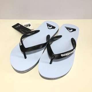 🚚 Man's QUIKSILVER 男生款 澳洲海灘拖鞋 US8,US9,US12(素色基本款夾腳拖鞋-淡藍色)