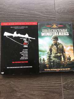 DVD - WWII 🎥 The Big Red Obe & WindTalkers