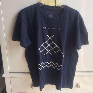 Jouldas t-shirt navy blue / kaos pria biru navy