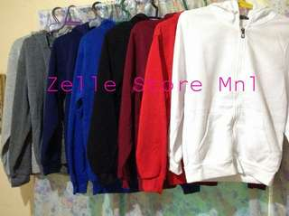 Ready made hoodie jackets zipper and non zip