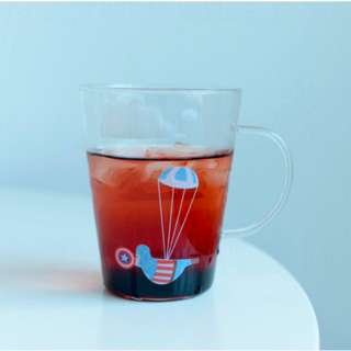 Superheros Transparent Cup with handle - The King's New Cloth