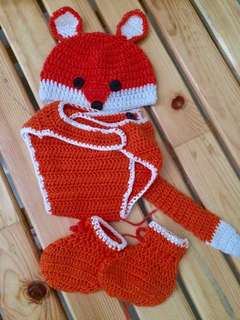 Fox crochet costume