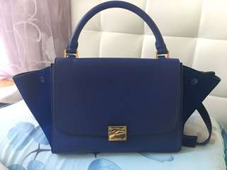 Celine Trapeze bag 袋 藍色 Blue small size 90% new