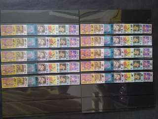 Malaysia 1979 Flowers Definitive Complete 10 Sets - 70v  MNH Stamps