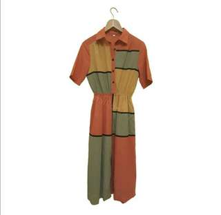 Korean long casual dress