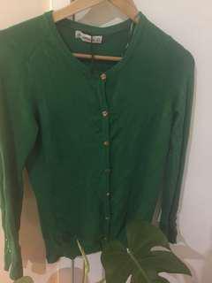 Zara green cardigan