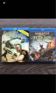 Blu Ray : Clash of the Titans & Wrath of the Titans (2 movies)