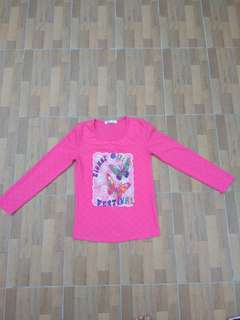 Kaos pink butterfly