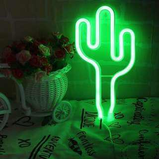 On Hand NEON LED Cactus