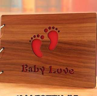 "10"" wood cover DIY Scrapbook - Baby love"
