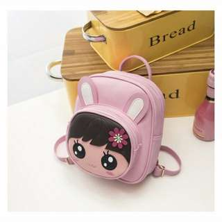 Ready Stock Girls kid schoolbag rabbit cartoon cute princess backpack