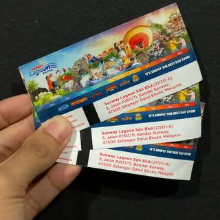Sunway Lagoon All access tickets (3 adults)