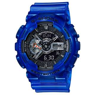 CASIO G-SHOCK GA-110 series GA-110CR-2A 半透明 藍色 GSHOCK GA110CR