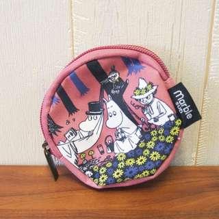 日本姆明moomin圓形散紙包coins bag