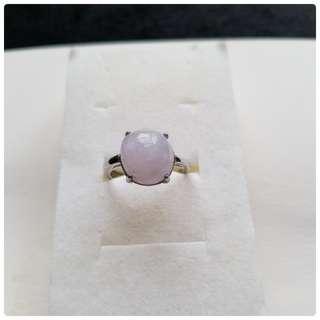 翡翠A玉~『銅鑲粉紫戒子』