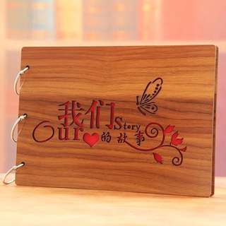 "10"" our story DIY Scrapbook - wood cover"