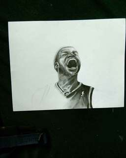 Artwork ni Mat available charcoal portrait& painting