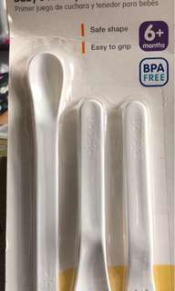 Pigeon Baby's first spoon and fork set