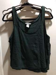 Tank top dark green