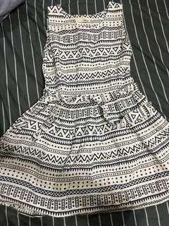 🚚 幾何圖騰洋裝