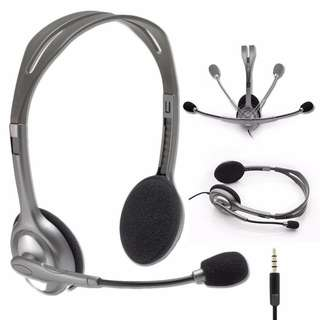 Noise cancelling headset, Logitech h111