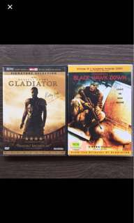 DVD -Gladiator & Black Hawk Down
