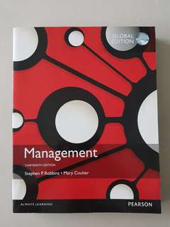 Management (Thirteenth Edition) by Stephen P.Robbins and Mary Coulter
