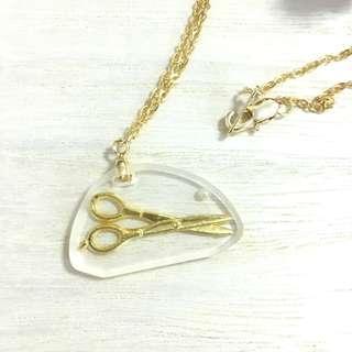 🆕 Haute Couture Scissors Gold Pendant