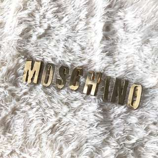 Moschino Vintage Gold Tone Belt LETTERS ONLY No Leather Strap