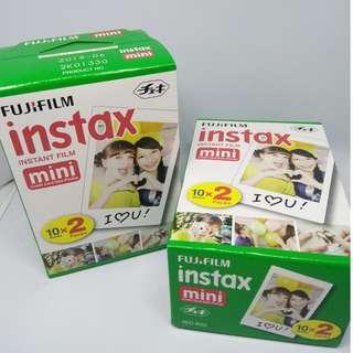Fujifilm Instax Mini 10 sheets x 2 Pack_instant film RM43/box