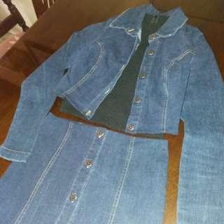 High waist Long Skirt and Crop Jacket