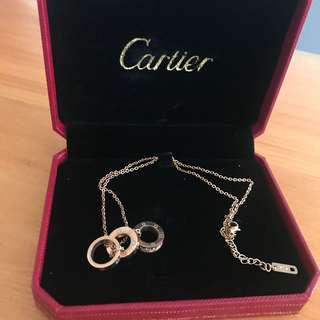 Cartier rose gold necklace