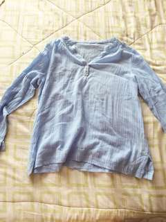 Crepe cotton long sleeves