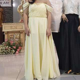 Pastel Yellow Long Gown