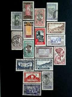 France vintage stamps